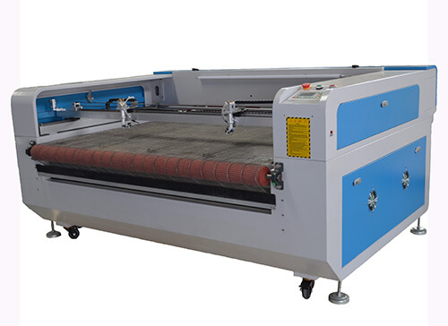 Affordable CNC Co2 Laser Cutter with double-head for Fabricclothleather