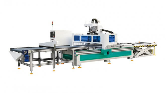 Furniture Panel Use 3 Axis CNC Router Machine With Automatic Loadingunloading System