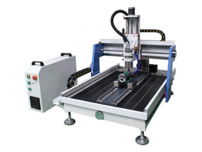 Tabletop CNC Router Machine For Aluminum Metal with 4th Rotary Axis