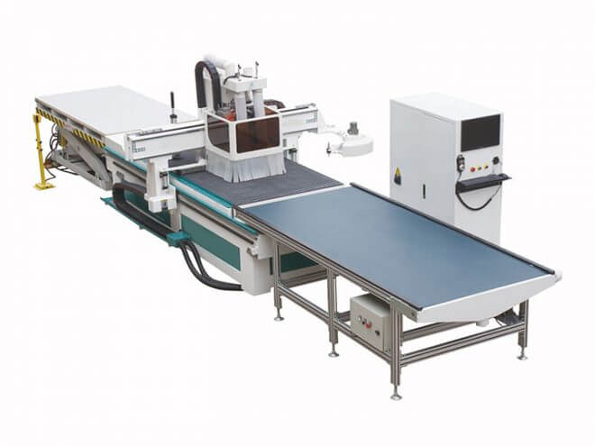Furniture Panel CNC Router Production Line With Auto Nesting Software