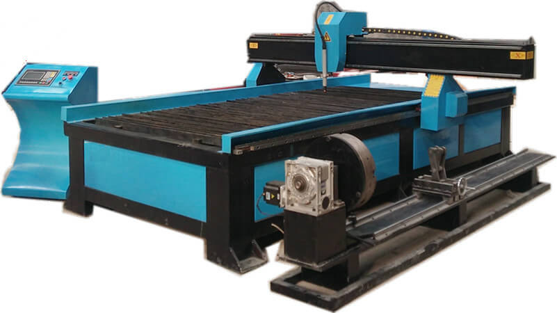 Cheap Computerized CNC Plasma Cutter with 4th Axis Rotary for Sale